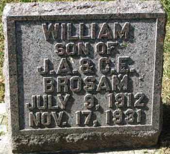BROSAM, WILLIAM - Burt County, Nebraska | WILLIAM BROSAM - Nebraska Gravestone Photos
