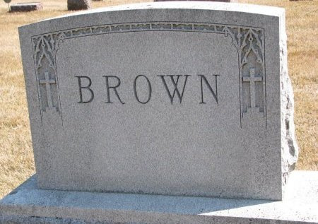 BROWN, *FAMILY MONUMENT - Burt County, Nebraska | *FAMILY MONUMENT BROWN - Nebraska Gravestone Photos