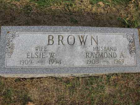 BROWN, RAYMOND A. - Burt County, Nebraska | RAYMOND A. BROWN - Nebraska Gravestone Photos