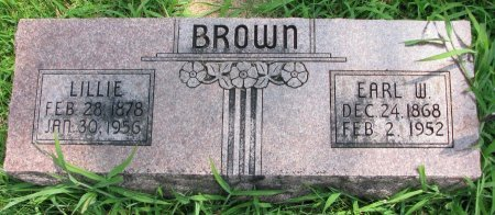 BROWN, EARL W. - Burt County, Nebraska | EARL W. BROWN - Nebraska Gravestone Photos