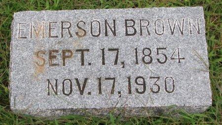 BROWN, EMERSON - Burt County, Nebraska | EMERSON BROWN - Nebraska Gravestone Photos