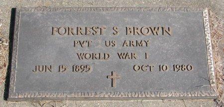 BROWN, FORREST S. - Burt County, Nebraska | FORREST S. BROWN - Nebraska Gravestone Photos