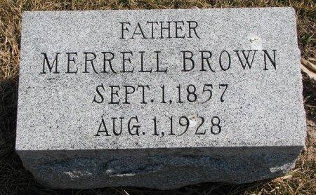 BROWN, MERRELL - Burt County, Nebraska | MERRELL BROWN - Nebraska Gravestone Photos