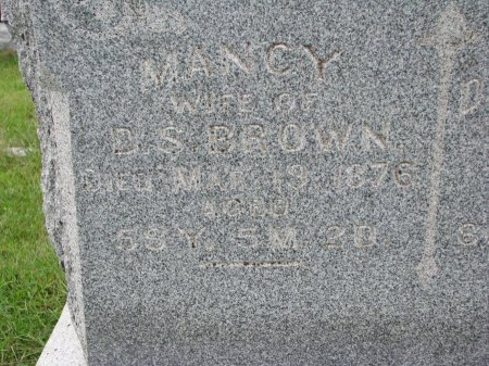BROWN, NANCY (CLOSE UP) - Burt County, Nebraska | NANCY (CLOSE UP) BROWN - Nebraska Gravestone Photos