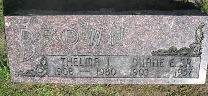 BROWN, DUANE E. SR. - Burt County, Nebraska   DUANE E. SR. BROWN - Nebraska Gravestone Photos