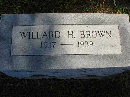 BROWN, WILLARD H. - Burt County, Nebraska   WILLARD H. BROWN - Nebraska Gravestone Photos