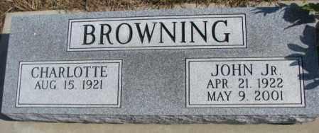 BROWNING, JOHN JR. - Burt County, Nebraska | JOHN JR. BROWNING - Nebraska Gravestone Photos