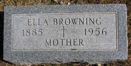 BROWNING, ELLA - Burt County, Nebraska | ELLA BROWNING - Nebraska Gravestone Photos