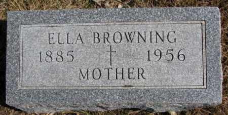 BROWNING, ELLA - Burt County, Nebraska   ELLA BROWNING - Nebraska Gravestone Photos