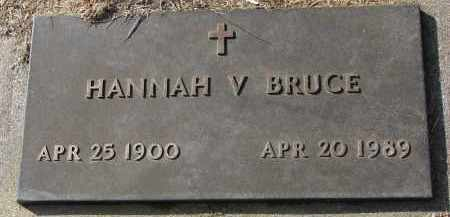 BRUCE, HANNAH V. - Burt County, Nebraska | HANNAH V. BRUCE - Nebraska Gravestone Photos