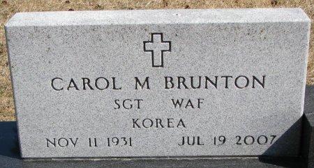 BRUNTON, CAROL M. (CLOSE UP) - Burt County, Nebraska | CAROL M. (CLOSE UP) BRUNTON - Nebraska Gravestone Photos