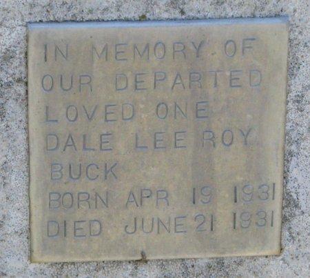 BUCK, DALE LEE ROY (CLOSE UP) - Burt County, Nebraska | DALE LEE ROY (CLOSE UP) BUCK - Nebraska Gravestone Photos