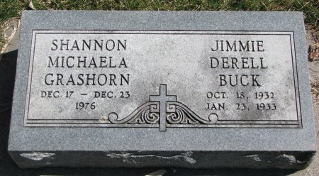 BUCK, JIMMIE DERELL - Burt County, Nebraska | JIMMIE DERELL BUCK - Nebraska Gravestone Photos