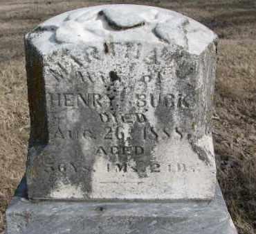 BUCK, MARTHA - Burt County, Nebraska | MARTHA BUCK - Nebraska Gravestone Photos