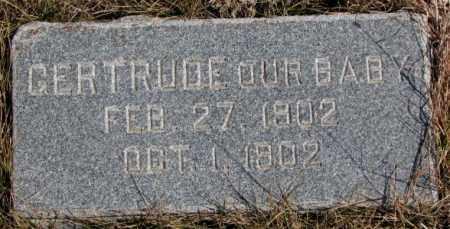 BUCKLIN, GERTRUDE - Burt County, Nebraska   GERTRUDE BUCKLIN - Nebraska Gravestone Photos