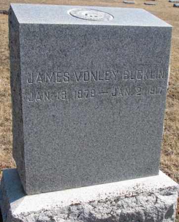 BUCKLIN, JAMES VONLEY - Burt County, Nebraska | JAMES VONLEY BUCKLIN - Nebraska Gravestone Photos