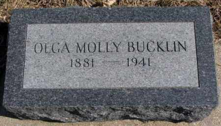 BUCKLIN, OLGA MOLLY - Burt County, Nebraska | OLGA MOLLY BUCKLIN - Nebraska Gravestone Photos