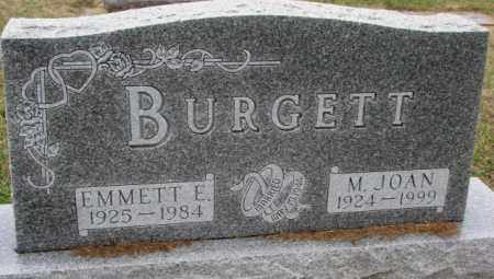 BURGETT, EMMETT E. - Burt County, Nebraska | EMMETT E. BURGETT - Nebraska Gravestone Photos