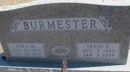 BURMESTER, IRVIN E. - Burt County, Nebraska | IRVIN E. BURMESTER - Nebraska Gravestone Photos