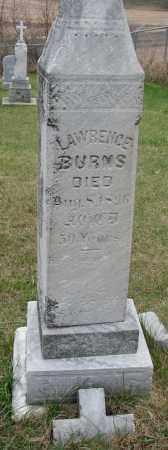 BURNS, LAWRENCE - Burt County, Nebraska   LAWRENCE BURNS - Nebraska Gravestone Photos