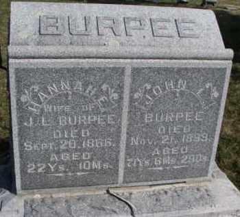BURPEE, JOHN L. - Burt County, Nebraska | JOHN L. BURPEE - Nebraska Gravestone Photos