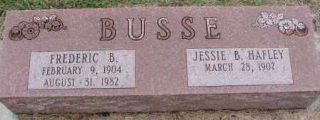 HAFLEY BUSSE, JESSIE B. - Burt County, Nebraska | JESSIE B. HAFLEY BUSSE - Nebraska Gravestone Photos