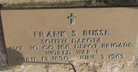 BUSSE, FRANK S. (WW I) - Burt County, Nebraska | FRANK S. (WW I) BUSSE - Nebraska Gravestone Photos