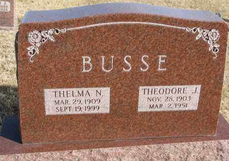 BUSSE, THELMA N. - Burt County, Nebraska   THELMA N. BUSSE - Nebraska Gravestone Photos
