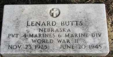 BUTTS, LENARD - Burt County, Nebraska | LENARD BUTTS - Nebraska Gravestone Photos