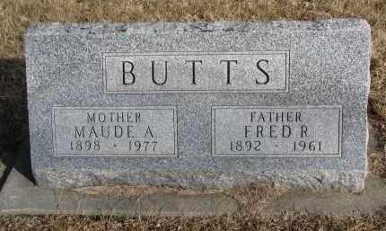BUTTS, MAUDE A. - Burt County, Nebraska | MAUDE A. BUTTS - Nebraska Gravestone Photos