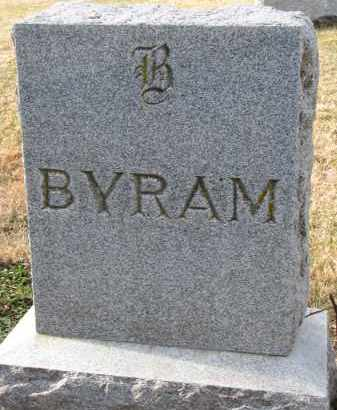 BYRAM, FAMILY STONE - Burt County, Nebraska   FAMILY STONE BYRAM - Nebraska Gravestone Photos