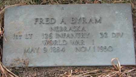 BYRAM, FRED A. (WW I) - Burt County, Nebraska | FRED A. (WW I) BYRAM - Nebraska Gravestone Photos