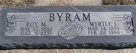 BYRAM, MYRTLE I. - Burt County, Nebraska | MYRTLE I. BYRAM - Nebraska Gravestone Photos
