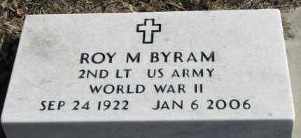 BYRAM, ROY M. (WW II) - Burt County, Nebraska | ROY M. (WW II) BYRAM - Nebraska Gravestone Photos