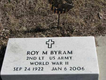 BYRAM, ROY M. (WW II) - Burt County, Nebraska   ROY M. (WW II) BYRAM - Nebraska Gravestone Photos