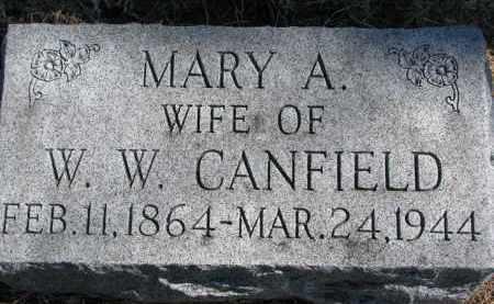 CANFIELD, MARY A. - Burt County, Nebraska | MARY A. CANFIELD - Nebraska Gravestone Photos