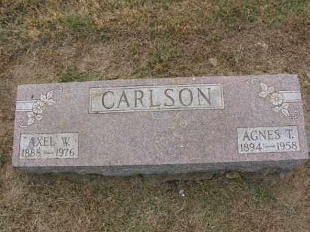 CARLSON, AGNES T. - Burt County, Nebraska | AGNES T. CARLSON - Nebraska Gravestone Photos