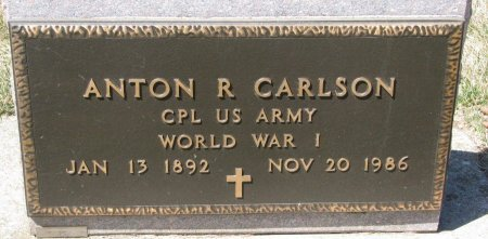CARLSON, ANTON R. (MILITARY) - Burt County, Nebraska | ANTON R. (MILITARY) CARLSON - Nebraska Gravestone Photos