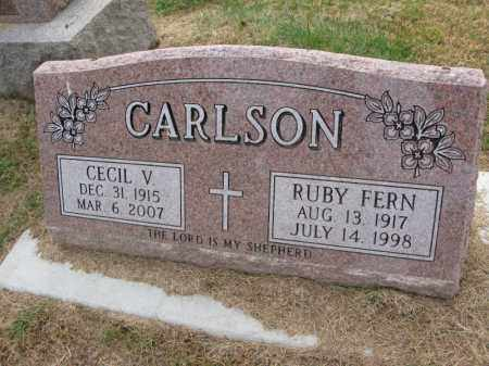 CARLSON, RUBY FERN - Burt County, Nebraska | RUBY FERN CARLSON - Nebraska Gravestone Photos