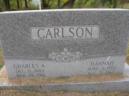 CARLSON, HANNAH - Burt County, Nebraska | HANNAH CARLSON - Nebraska Gravestone Photos
