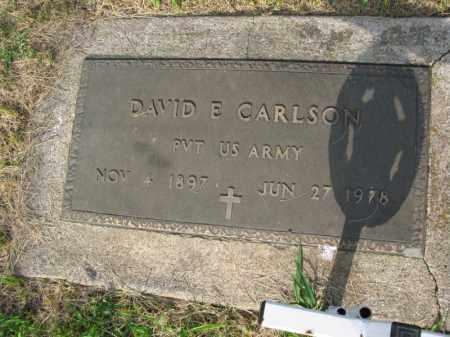 CARLSON, DAVID E. - Burt County, Nebraska | DAVID E. CARLSON - Nebraska Gravestone Photos