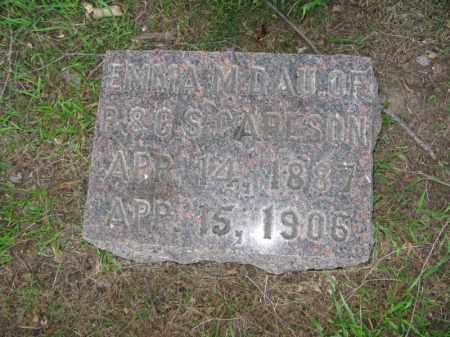 CARLSON, EMMA M. - Burt County, Nebraska   EMMA M. CARLSON - Nebraska Gravestone Photos