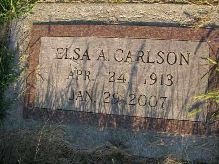 CARLSON, ELSA A. - Burt County, Nebraska | ELSA A. CARLSON - Nebraska Gravestone Photos