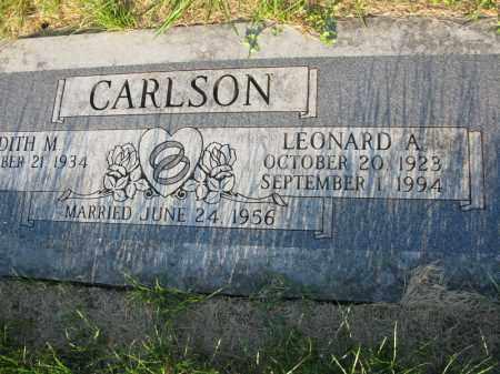 CARLSON, LEONARD A. - Burt County, Nebraska | LEONARD A. CARLSON - Nebraska Gravestone Photos