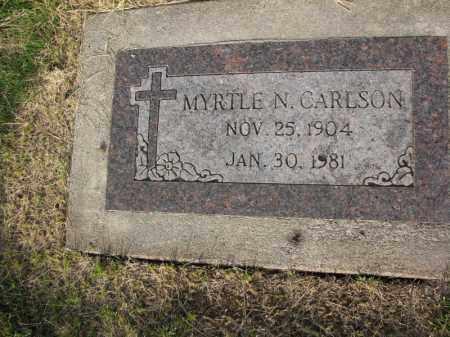 CARLSON, MYRTLE N. - Burt County, Nebraska | MYRTLE N. CARLSON - Nebraska Gravestone Photos