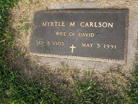 CARLSON, MYRTLE M. - Burt County, Nebraska | MYRTLE M. CARLSON - Nebraska Gravestone Photos