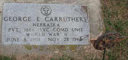 CARRUTHERS, GEORGE E. (WW II) - Burt County, Nebraska | GEORGE E. (WW II) CARRUTHERS - Nebraska Gravestone Photos