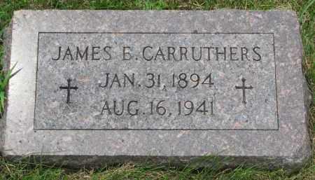 CARRUTHERS, JAMES E. - Burt County, Nebraska | JAMES E. CARRUTHERS - Nebraska Gravestone Photos