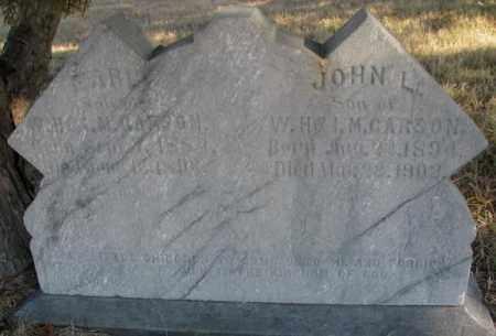 CARSON, JOHN L. - Burt County, Nebraska   JOHN L. CARSON - Nebraska Gravestone Photos