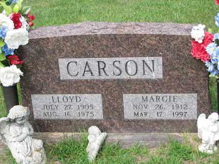 CARSON, MARGIE - Burt County, Nebraska | MARGIE CARSON - Nebraska Gravestone Photos